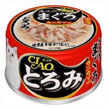 Inaba Тороми ж/б для кошек в бульоне филе курицы+тунец, сурими, 80 гр