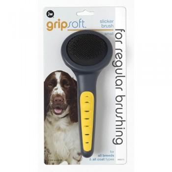 JW Щетка-пуходерка, для собак, жесткая, маленькая Grip Soft Slicker Brush Small (65010)