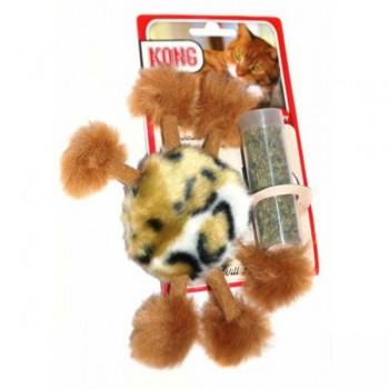 """Kong / Конг игрушка для кошек """"Пушистый помпон"""" плюш с тубом кошачьей мяты"""