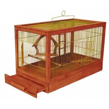 Darell / Дарэлл Клетка для птиц Ретро - кантри малая, деревянная, цвет клен, 47,5х27х32 (8760)