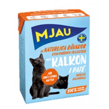 Mjau / Мяу мясной паштет с индейкой в упаковке Tetra Recart, 380гр. (1х16) 3840