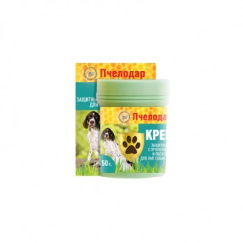 Пчелодар Крем защитный с прополисом и воском для лап собак и кошек 50 гр