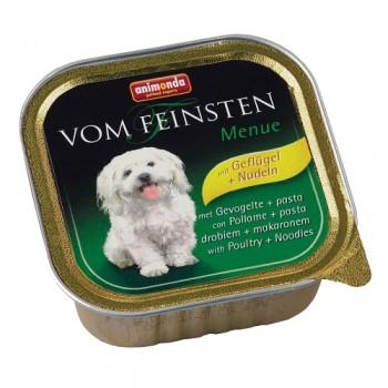 Animonda Vom Feinsten Menue конс. 150 гр. Мясо домашней птицы / паста для собак (ламистер) 82967 (82614)