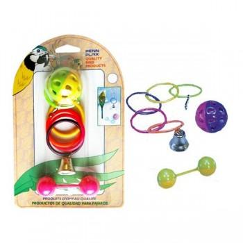 Penn-Plax / Пен-Плакс Игрушка для птиц набор-Кольца, мяч, штанга (1х12) ВА524