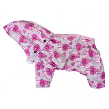 Зооник Попона для мопсов с рюшем (плащевка), розовый