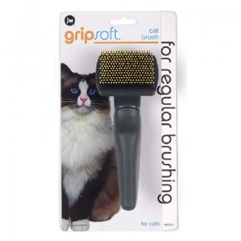 JW Щетка для кошек массажная с облитыми кончиками, пластик Grip Soft Cat Brush (65033)