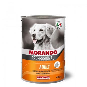 Morando / Морандо Professional консервированный корм для собак с кусочками ягненка и рисом, 405г, жб