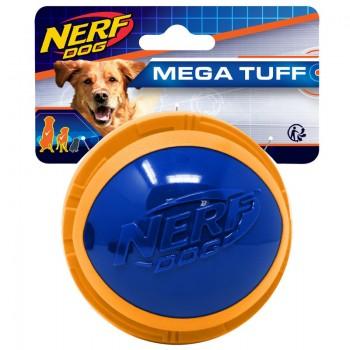 """Nerf / Нёрф Мяч из вспененной резины и термопластичной резины, 10 см (серия """"Мегатон""""), (синий/оранжевый)"""