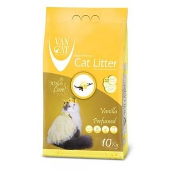 Van Cat Комкующийся Наполнитель без пыли с ароматом Ванили, пакет (Vanilla) 10 кг