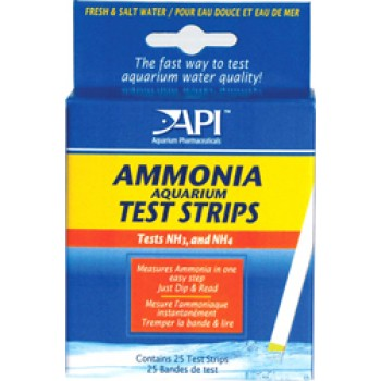 API / АПИ Аммония Тест Стрипс - Полоски для определения уровня аммиака Ammonia Aquarium Test Strips