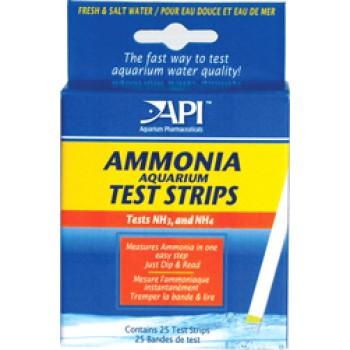 API / АПИ Аммония Тест Стрипс - Полоски для определения уровня аммиака Ammonia Aquarium Test Strips