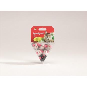 """I.P.T.S. 430236 набор игрушек д/кошек """"Мышь плюшевая"""" в треугольной упаковке 6см"""