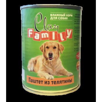 Clan / Клан Family консервы д/кошек паштет из Телятины, 0,34 кг