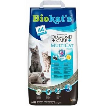 """Biokat's / БиоКэтс наполнитель BIOKAT'S """"Черный бриллиант Мультикэт"""", 8л (бумага)"""