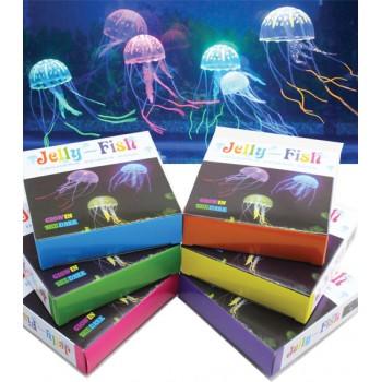 Jelly-Fish / Джелли-Фиш Медузы силиконовые с неоновым эффектом, большие, D=10 cм, картонная коробка
