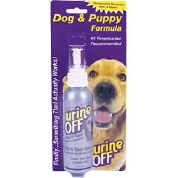 Urine OFF / Юрин Офф, Средство для уничтожения пятен и запахов от собак и щенков (спрей в блистере), UO Odor and Stain Remover, Dog & Puppy, 118 ml