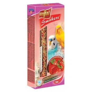 Vitapol / Витапол Smakers с клубникой для волнистых попугаев