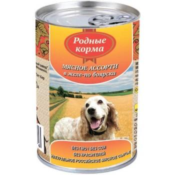 Родные корма Мясное в желе по Боярски 410 гр