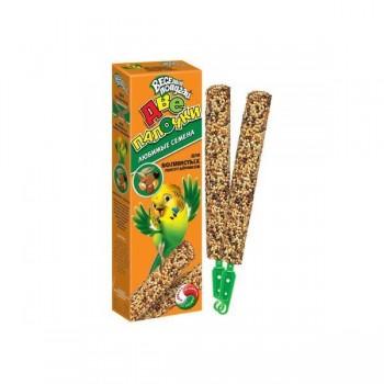 `Веселый попугай` палочки 2 шт. для волнистых попугаев люб. семена (1х25) 720 (Зоомир)