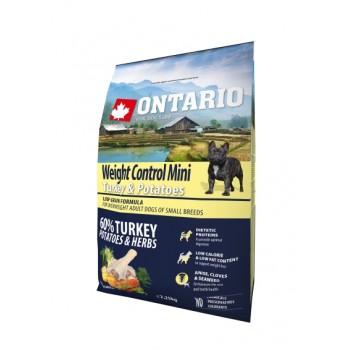 Ontario / Онтарио для собак малых пород Контроль веса с индейкой и картофелем 2,25 кг