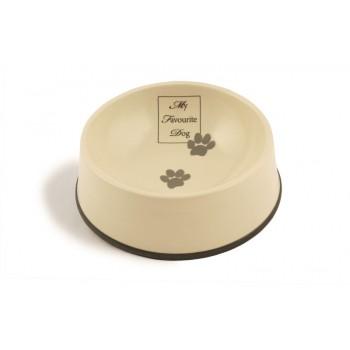 Beeztees / Бизтис 651478 My Favorite Миска д/собак керамическая коричневая окантовка 1,3л*22*8,5см