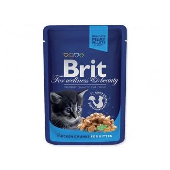 Brit / Брит Премиум пауч д/котят Chicken Chunks for Kitten Курица для котят, 100г