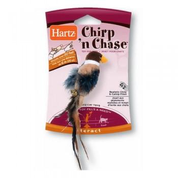 Hartz / Хартц Игрушка для кошек - чирикающая птичка, мягкая Chirp n chase cat toy