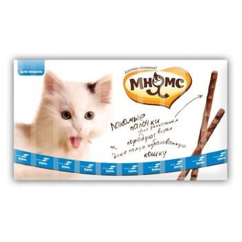 Мнямс лакомые палочки 13,5 см для кошек с лососем и форелью 10х5 г