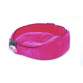 """Pet Head Мягкий лежак """"Розовый вельвет"""" 51*41*15, средний (BED Hot Pink, medium)"""