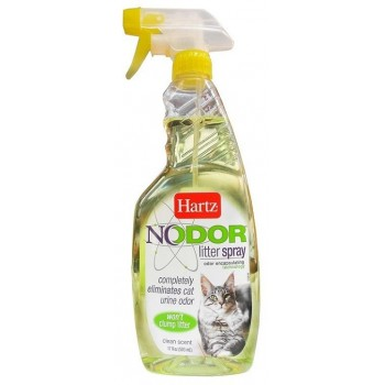 Hartz / Хартц Средство, уничтожающее запахи в кошачьих туалетах (с ароматизатором), 503 мл Nodor litter spray (clean scent)