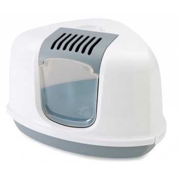 Savic / Савик Туалет угловой для кошек NESTOR CORNER белый/серый 1х4 2003-00WG