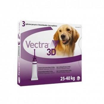 Вектра 3D капли д/собак 25-40кг инсектоакарицидные 4,7мл*3пипетки