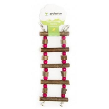 ZooBaloo Игрушка для птиц лесенка боченки с бусинками L: 27х10 см