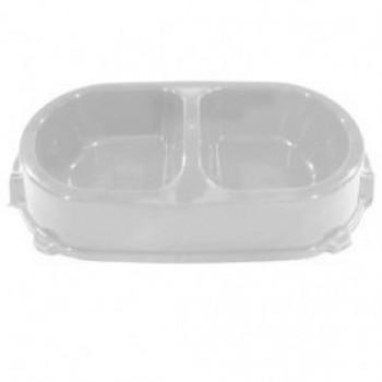 Favorite / Фаворит миска пластиковая двойная нескользящая 0,45л. мраморная