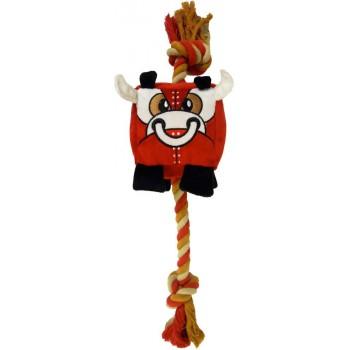 R2P игрушка для собак Chewbots кубик из плотного текстиля с канатом