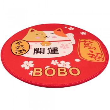 Bobo / Бобо Коврик для собак и кошек 80 см, кот, красный