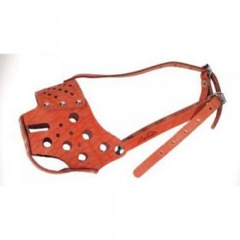 Аркон Намордник кожаный 34 сплошной, размер 34 см, цвет коньячный, н34ск (33245)