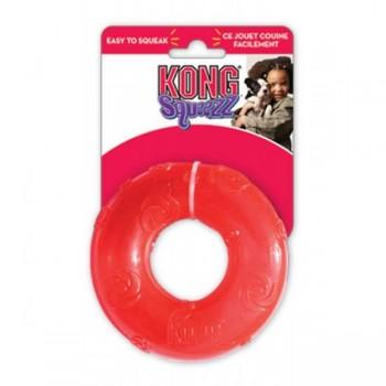 Kong / Конг игрушка для собак Сквиз Кольцо большое резиновое с пищалкой