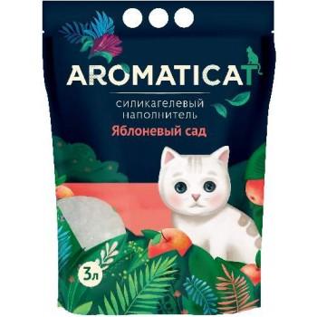 """AromatiCat / АроматиКэт Силикагелевый наполнитель """"AromatiCat"""" 3л. Яблоневый сад"""
