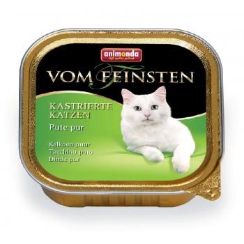 Animonda Vom Feinsten for castrated cats конс. 100 гр. с отборной индейкой для кастрированных кошек (ламистер) 83856