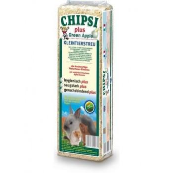 Наполнитель Chipsi Plus Green Apple д/грызунов 15л*1кг Опилки древесные ароматизированные