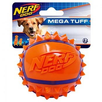 Nerf / Нёрф Мяч из термопластичной резины с шипами, 9 см, (синий/оранжевый)