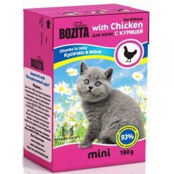 Bozita / Бозита MINI 2106 кон.д/котят кусочки в желе с Курицей 190г