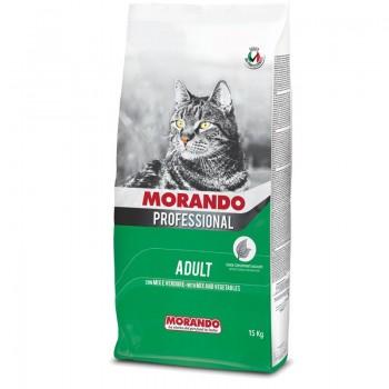 Morando / Морандо Professional Gatto сухой корм для взрослых кошек Микс с овощами, 2 кг