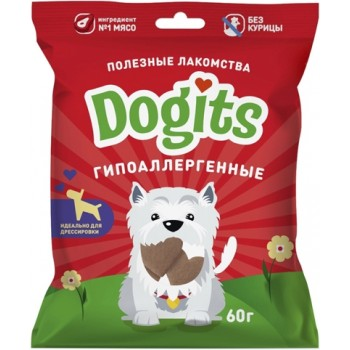 Догитс Лакомство д/собак гипоаллергенное 60г