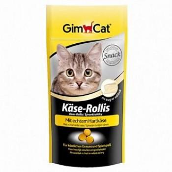 """Gimcat / ГимКэт Лакомство витаминиз.""""Сырные ролики"""" д/кошек, 40 г"""
