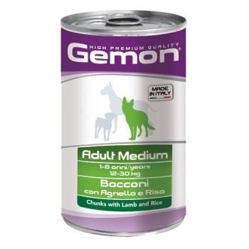Gemon / Гемон Dog Medium для собак средних пород кусочки ягненка с рисом 1250 г