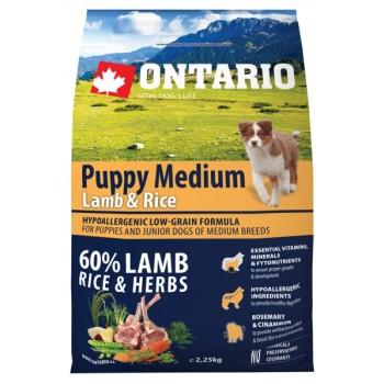 Ontario / Онтарио для щенков с ягненком и рисом 2,25 кг