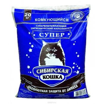 Сибирская Кошка Супер 20кг комкующийся