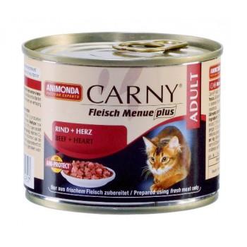 Animonda Carny Adult конс. 200 гр. с говядиной и сердцем для взрослых кошек 83495-83552